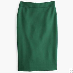 J. Crew No. 2 Pencil Skirt Double Serge Wool